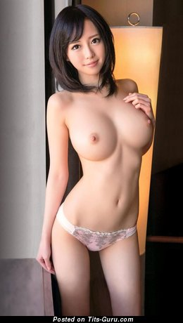 Shiori Yamate - Magnificent Topless Asian Brunette with Graceful Open Natural C Size Tots in Panties (Hd Porn Photoshoot)