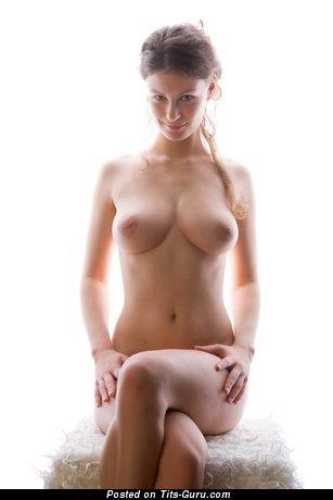 Image. Nude wonderful lady with medium natural breast image