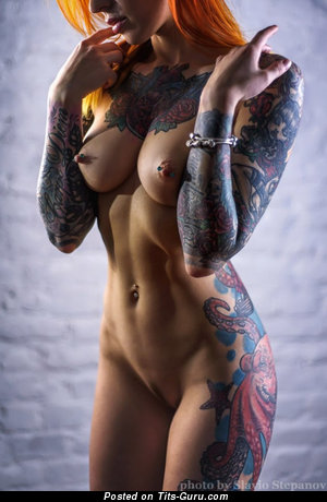 Image. Nude amazing female with tattoo pic
