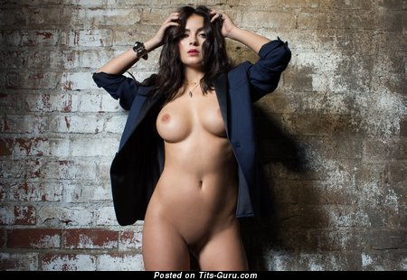 Image. Alexandra Tyler - naked brunette with medium natural boobs image