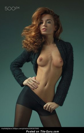 Yummy Red Hair with Yummy Bare Natural Paltry Tots (Sexual Picture)