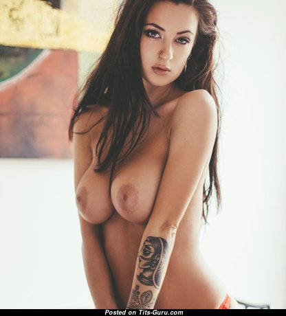 Marvelous Glamour Babe with Marvelous Defenseless Natural Regular Boobys, Enormous Nipples, Tattoo (Hd Xxx Pic)