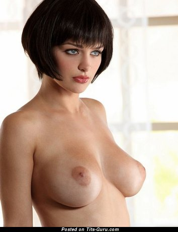 Image. Sexy brunette with big natural tittes picture