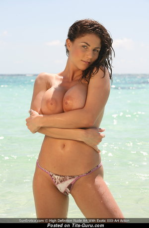 Image. Roberta Missoni - sexy topless nice lady with big boob photo