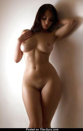 Sexy naked awesome girl with medium natural breast picture