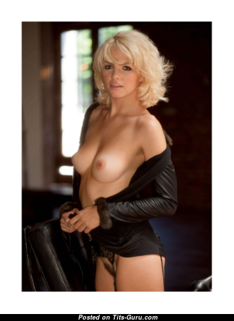 Britany Nola - Pretty Playboy Blonde with Pretty Naked Natural Little Hooters in Lingerie is Smoking (18+ Image)