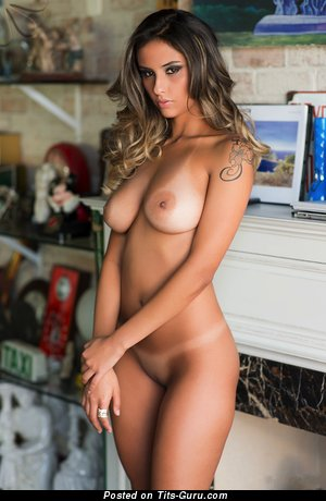 Sexy naked awesome lady with tattoo picture