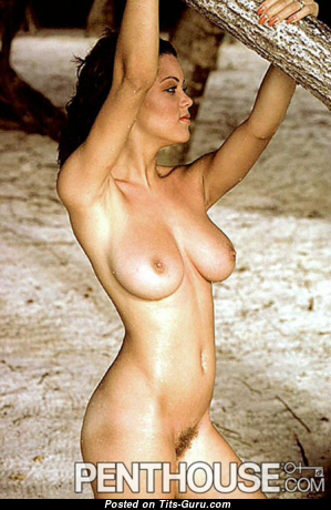 Carmen Pope - Magnificent Topless American Red Hair with Magnificent Bald Natural Soft Tots (Vintage Porn Wallpaper)