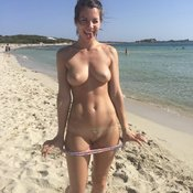 Sexy awesome woman with medium natural tittes picture
