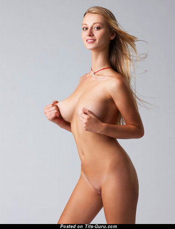 Image. Carisha Cherry - naked blonde with medium natural tots image