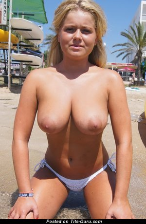 Image. Chloe - naked blonde with huge natural tittes and big nipples image
