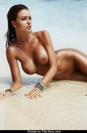 Monika Pietrasinska - nude brunette with big tits pic
