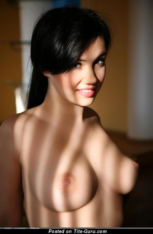 Martisha - nude brunette with medium natural tittys photo