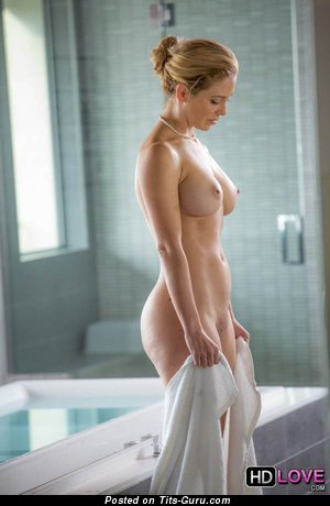 Image. Naked blonde with medium boobies image