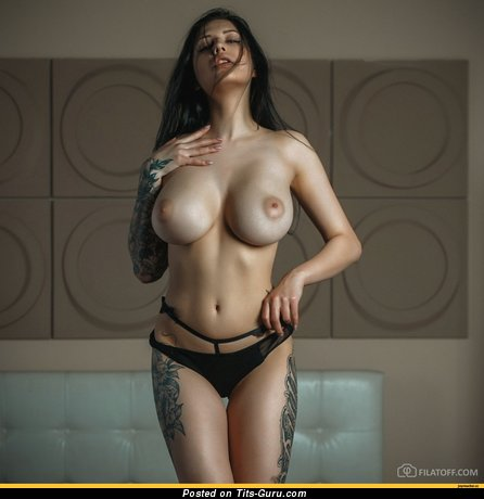 Евгения Таланина - Good-Looking Brunette Babe with Beautiful Exposed Dd Size Tits & Erect Nipples (Hd Porn Photoshoot)