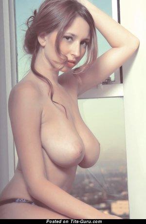 Yummy Honey with Yummy Defenseless Natural Mega Breasts (18+ Photo)