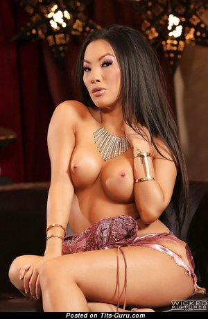 Asa Akiro - The Nicest Asian Brunette Babe with The Nicest Nude Fake D Size Boobs (Xxx Photoshoot)