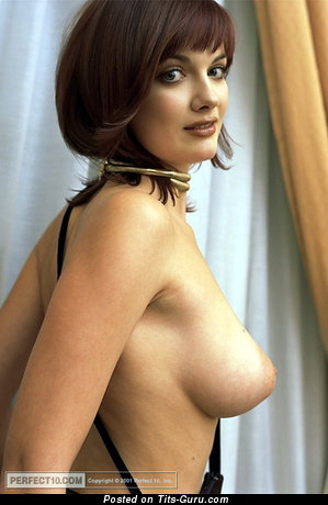 Image. Dina Lyachenko - sexy naked beautiful lady with big natural boob image