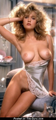 Penny Baker - topless blonde with medium natural breast vintage