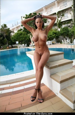 Image. Nude awesome female with big fake breast pic