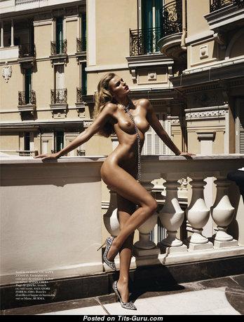 Anja Rubik - Good-Looking Blonde with Good-Looking Defenseless Natural Dd Size Jugs (Porn Wallpaper)