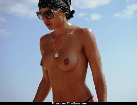 Image. Topless hot woman with medium breast photo