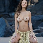 Alisa I - sexy naked brunette with medium tittes image