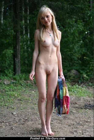 Naked hot woman with medium natural breast picture