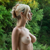 Awesome female with medium natural tits photo