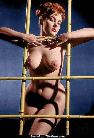 Красотка с офигенной оголённой натуральной грудью (винтажное интимное фото)