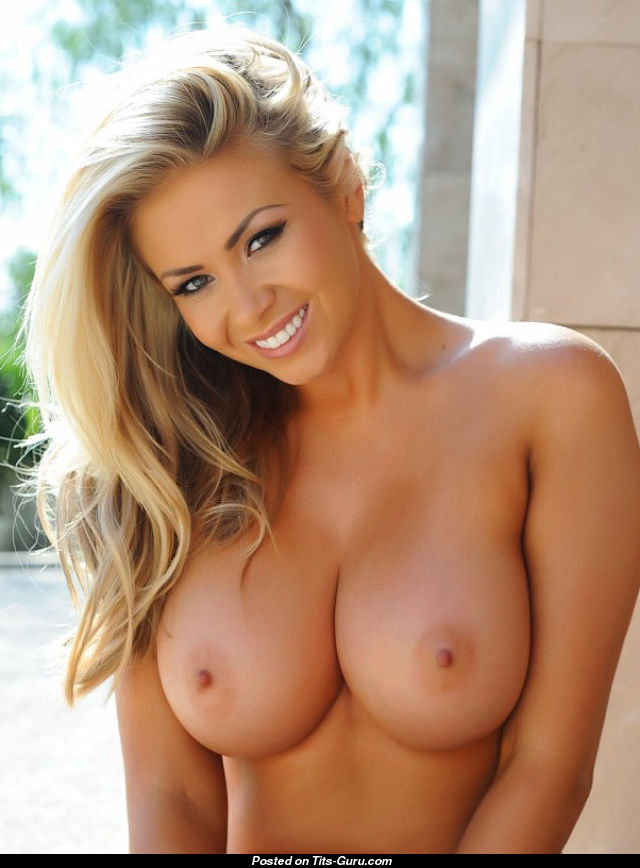 Nude blonde breast