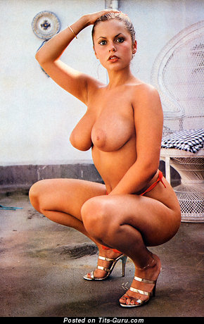 Joanne Latham - Splendid Topless British Miss with Splendid Exposed Natural D Size Chest (Vintage Sexual Photoshoot)