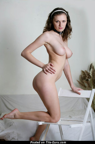 Image. Nude wonderful woman with natural boob pic