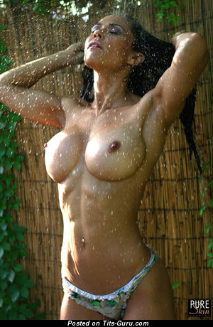 Image. Wet naked red hair with big tots pic