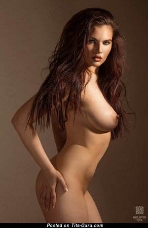 Amazing Brunette with Amazing Open Real Substantial Boobie (Sex Foto)