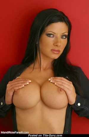 Image. Nude wonderful lady with big fake tittes pic