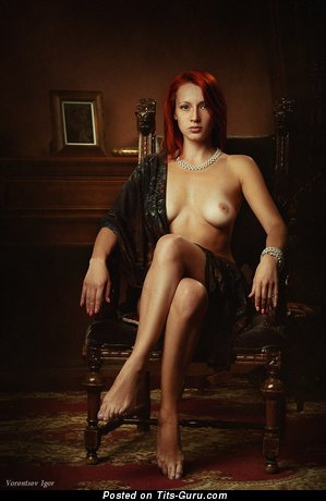 Image. Nude red hair with natural boob pic