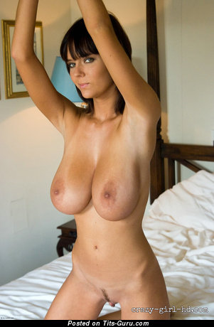 Image. Ala Passtel - sexy naked brunette with big natural breast photo