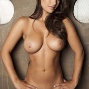 Sexy naked beautiful lady with medium natural breast picture