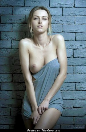 Image. Naked blonde with medium natural tittes photo