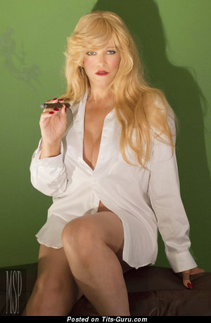 Abigail Rich - Alluring Non-Nude & Glamour Playboy Blonde Cowgirl, Actress & Babe with Sexy Legs in Pantyhose (Sexual Pix)