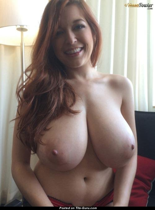 Tessa Fowler  Topless Red Hair  Blonde Pornstar With Nude Real Huge Busts  Big Nipples Sexual -3219