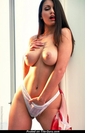 Image. Nude brunette with big natural breast image