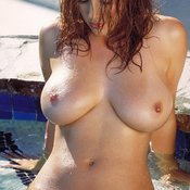 Hot female with natural boobs photo