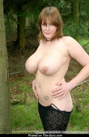 Fairy - Pretty Topless British Lassie with Pretty Exposed Sizable Boobs (Porn Photo)