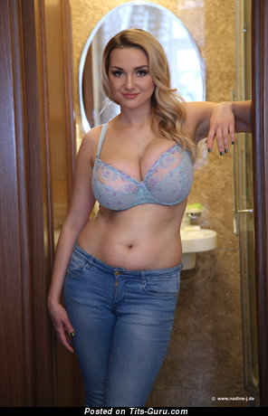 Image. Adriana - naked blonde with huge natural boobs photo
