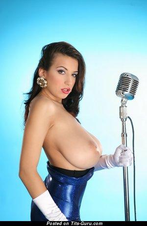 Image. Jana Defi Maria Swan - nude brunette with huge natural tits photo