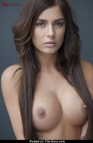 Image. Alexa Varga - nude brunette with medium tots and big nipples picture