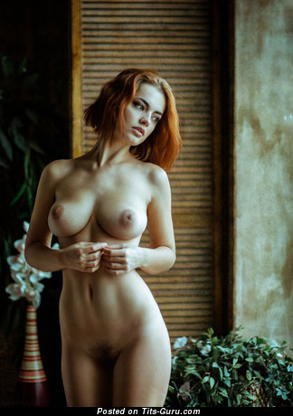 Image. Nude wonderful lady with natural tits pic