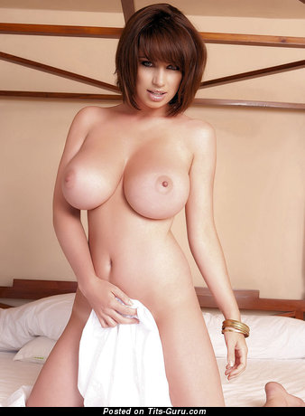 Image. Sophie Howard - naked brunette with medium natural tits photo
